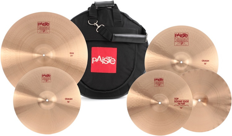Paiste 2002 Bonham Cymbal Set with 24