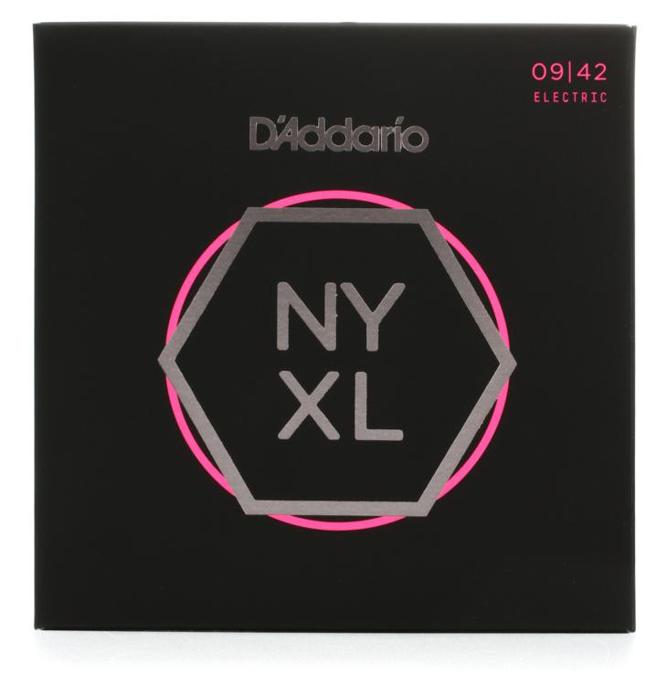 D\'Addario NYXL0942 Nickel Wound Electric Strings 3-Pack .009-.042 Super Light image 1