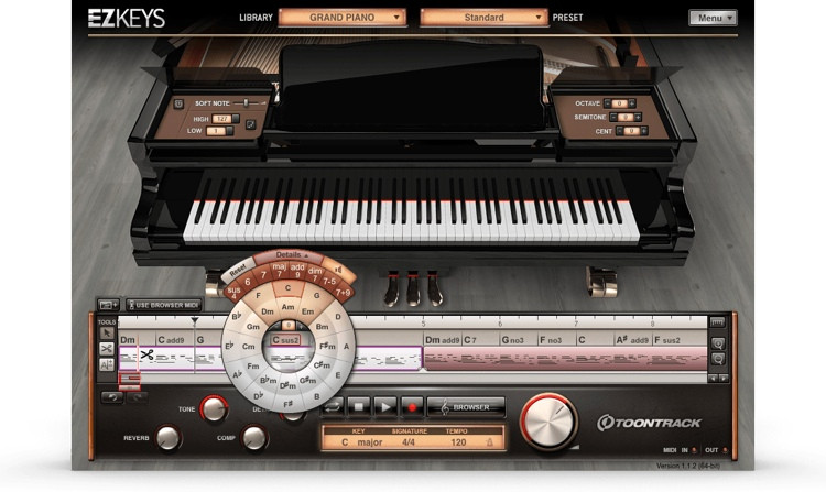 Toontrack EZkeys Grand Piano Songwriting Software and Virtual Grand Piano image 1