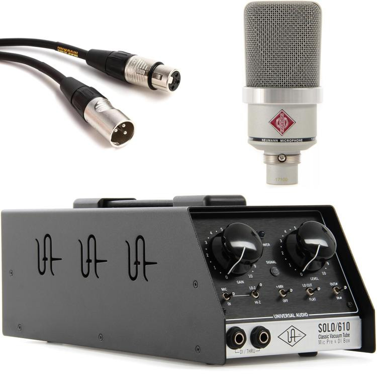 Neumann TLM 102 with Universal Audio SOLO/610 - Nickel image 1