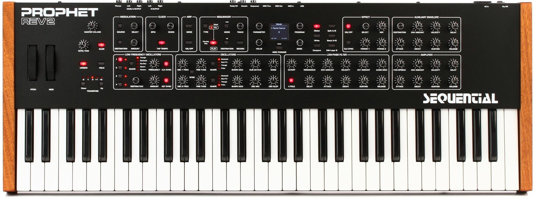 Resultado de imagem para Dave Smith Instruments Prophet Rev2 16-voice Polyphonic Analog Synthesizer
