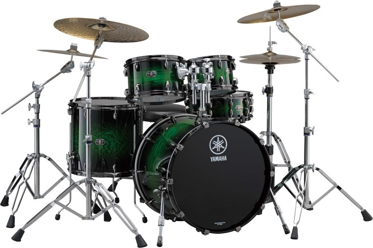 Yamaha Live Custom 4-piece Shell Pack - Emerald Shadow Sunburst image 1