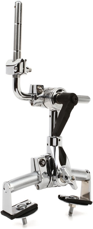 DW Vintage-style Single-tom Rail Mount Assembly - Chrome image 1