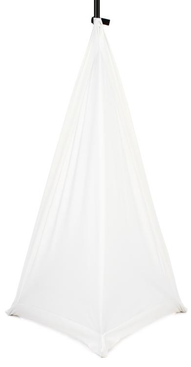 JBL Bags JBL-STAND-STRETCH-COVER-WH-2 - White Stretchy Cover for Tripod Stand, 2 Sides image 1