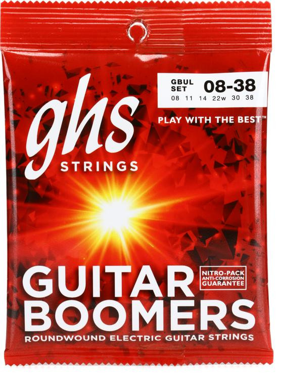 GHS GBUL Guitar Boomers Roundwound Ultra Light Electric Guitar Strings image 1