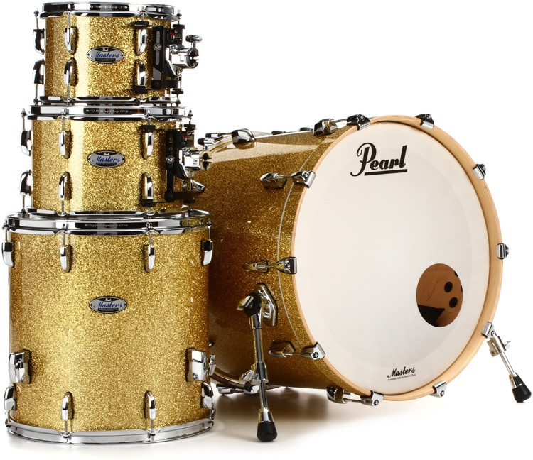 Pearl Masters Complete 4-piece Shell Pack - Bombay Gold Sparkle image 1