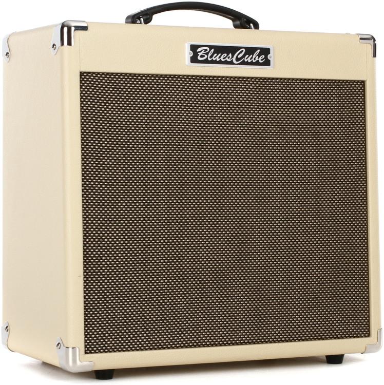 roland blues cube hot 30 watt 1x12 combo amp vintage blonde sweetwater. Black Bedroom Furniture Sets. Home Design Ideas