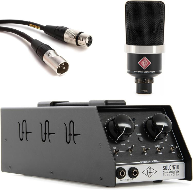 Neumann TLM 102 with Universal Audio SOLO/610 - Matte Black image 1