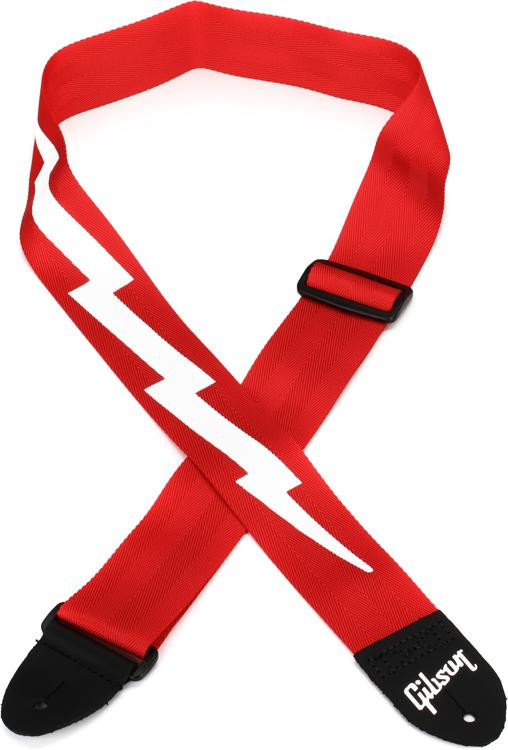 Gibson Accessories Lightning Bold Style Guitar Strap - Ferrari Red image 1