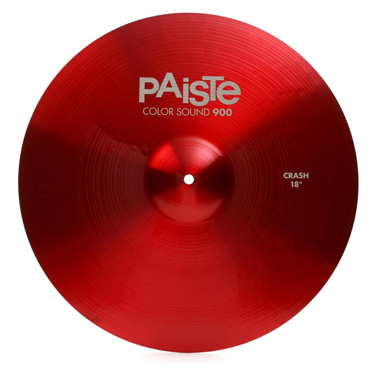 paiste color sound 900 crash cymbal 18 red sweetwater. Black Bedroom Furniture Sets. Home Design Ideas