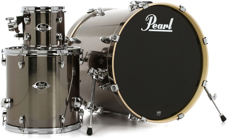 Pearl Export EXX 3-PIece Add-On Kit with Hardware - Smokey Chrome image 1