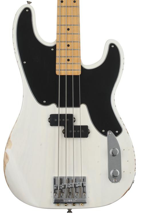 Fender Mike Dirnt Road Worn Precision Bass - White Blonde/Maple FB image 1