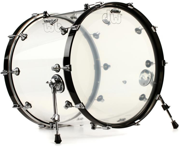 DW Design Series Clear Acrylic Bass Drum - 18