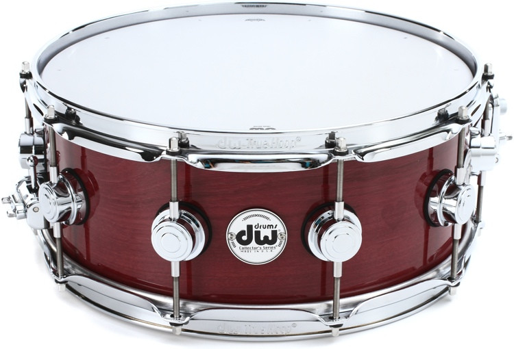 DW Collector\'s Purpleheart Wood Snare Drum - 5.5