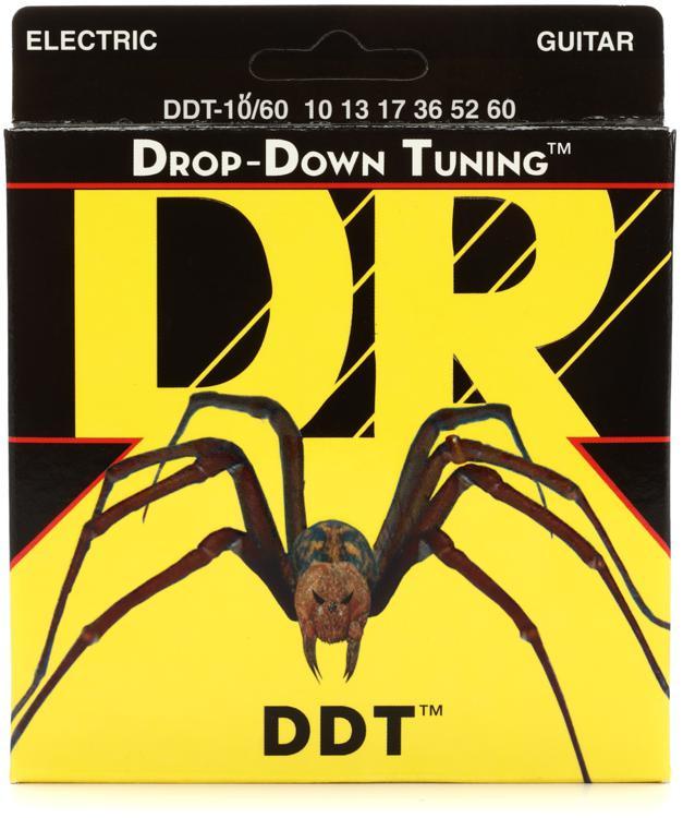 DR Strings DDT-10/60 Drop-Down Tuning Nickel Plated Steel Big-Heavy Electric Guitar Strings image 1