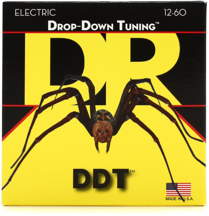 DR Strings DDT-12 Drop-Down Tuning Nickel Plated Steel Extra-Extra Heavy Electric Guitar Strings image 1