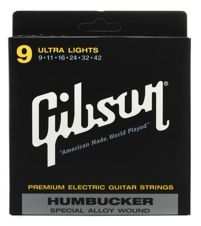Gibson Accessories SA9 Humbucker Special Electric Strings - .009-.042 - Ultra Light image 1