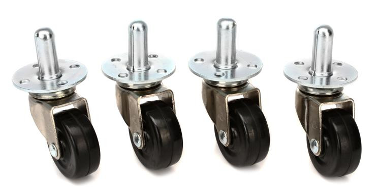 fender pop in amplifier casters 4 pack sweetwater. Black Bedroom Furniture Sets. Home Design Ideas