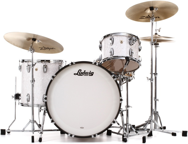 Ludwig Classic Maple Pro Beat 24 Shell Pack - White Marine Pearl image 1