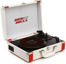 Rock N Rolla Premium Briefcase Turntable - White