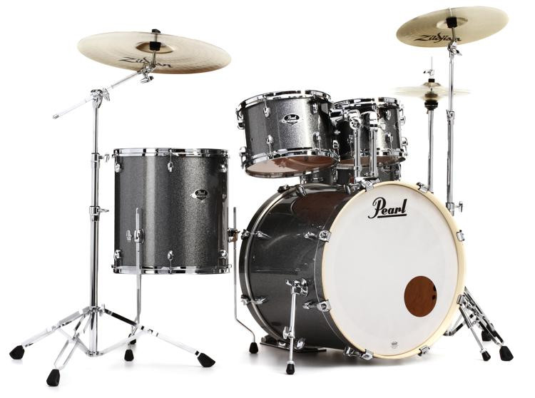 pearl export exx 5 piece drum set with cymbals hardware grindstone sparkle sweetwater. Black Bedroom Furniture Sets. Home Design Ideas