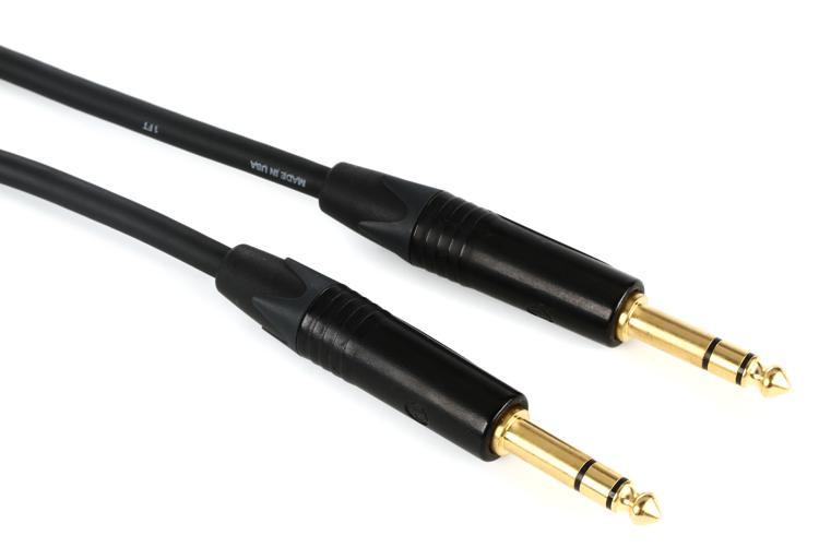 Pro Co Ameriquad TRS-TRS Patch Cable - 2\' image 1