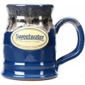 Sweetwater Tankard Mug - Federal Blue with Sand White