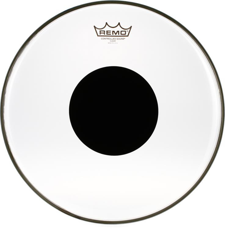 Remo Controlled Sound Clear/Black Dot Drumhead - 14