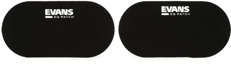 Evans PB2 Double Bass Drum Patch (pair) - Black Nylon image 1