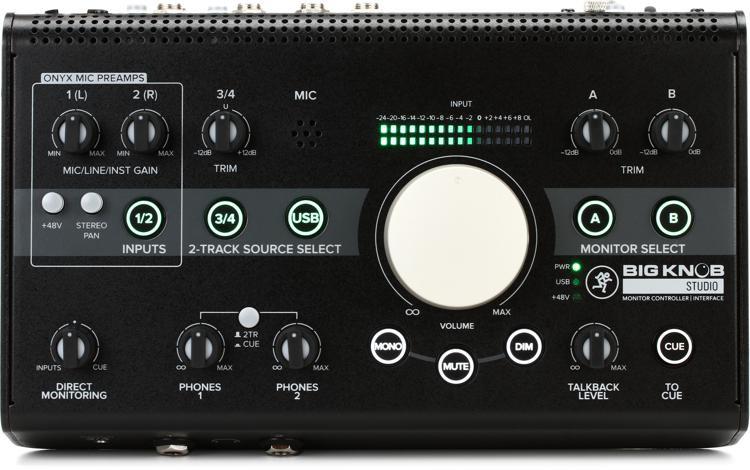 mackie big knob studio 3x2 studio monitor controller sweetwater. Black Bedroom Furniture Sets. Home Design Ideas