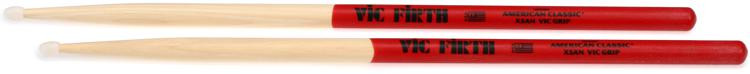 Vic Firth American Classic Drumsticks With Vic Grip - Extreme 5A - Nylon Tip image 1