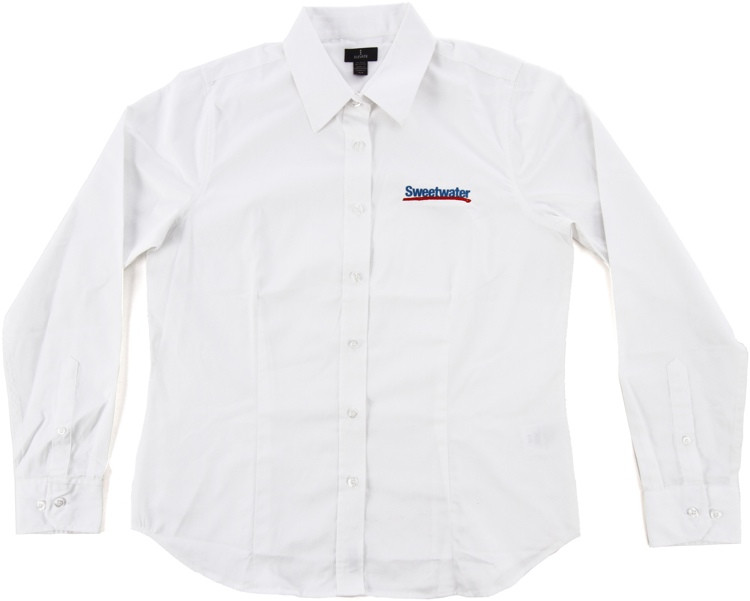Sweetwater Women\'s Long-sleeve Oxford - White, Large image 1