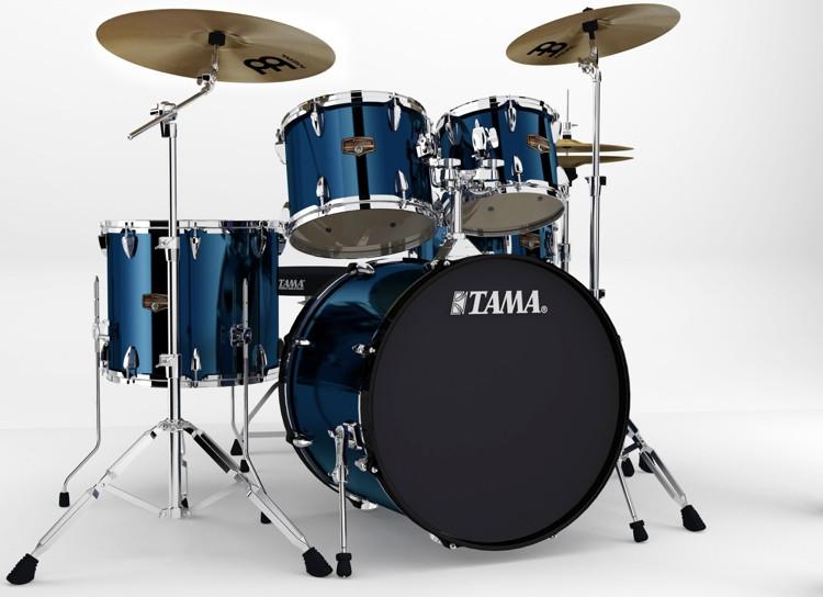 Tama 2016 Imperialstar Complete Drum Set - 5-piece - Midnight Blue image 1