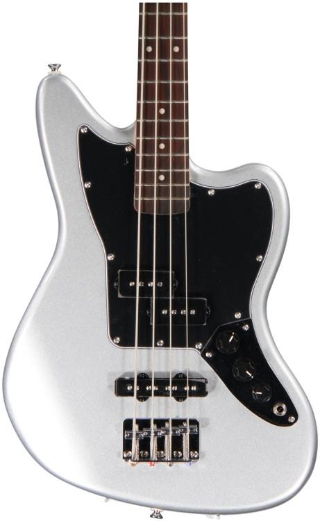 Squier Vintage Modified Jaguar Bass Special SS - Silver image 1