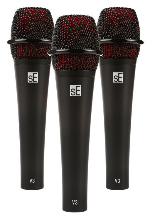 sE Electronics V3 Handheld Dynamic Microphone (3-pack) image 1
