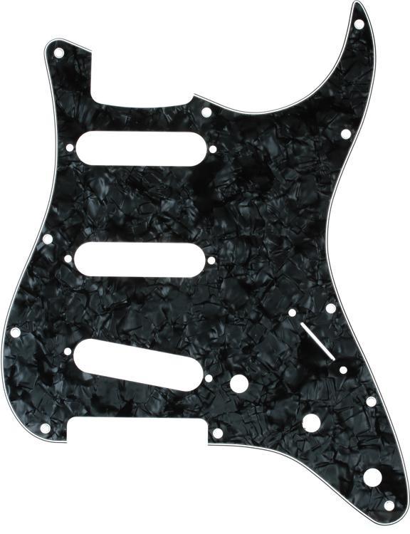 Fender Standard Strat Pickguard - Black Pearl image 1