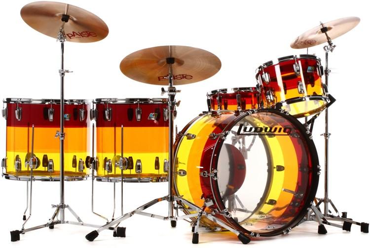 Ludwig Vistalite 4 Piece Shell Pack - Tequila Sunrise image 1