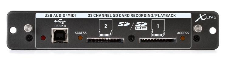 behringer x live x32 expansion card for 32 channel sd sdhc card and usb recording sweetwater. Black Bedroom Furniture Sets. Home Design Ideas