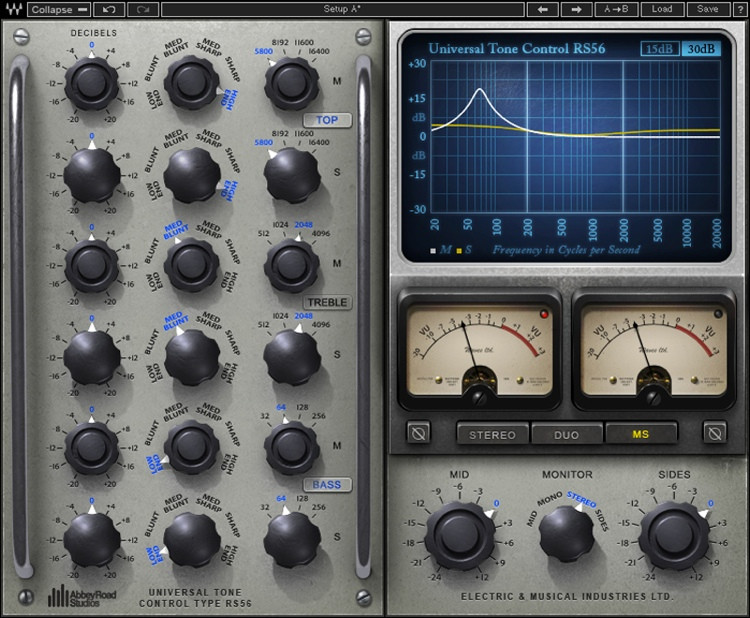 Waves Abbey Road Studios RS56 Passive EQ Plug-in image 1