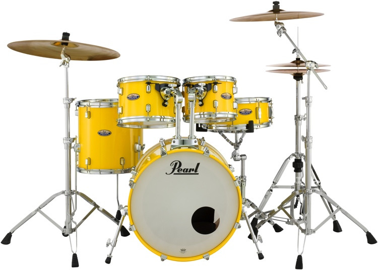 Pearl Decade Maple Shell Pack - 5pc Fusion - Solid Yellow image 1