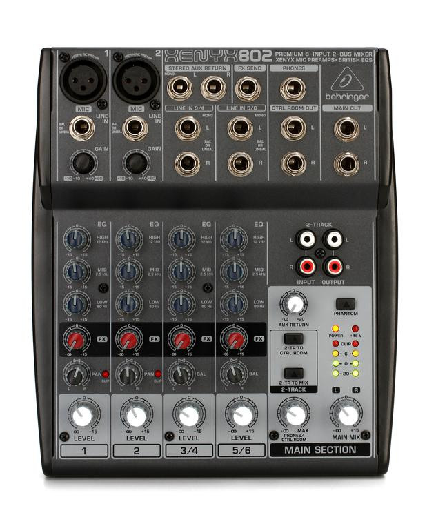 Behringer Xenyx 802 Mixer image 1
