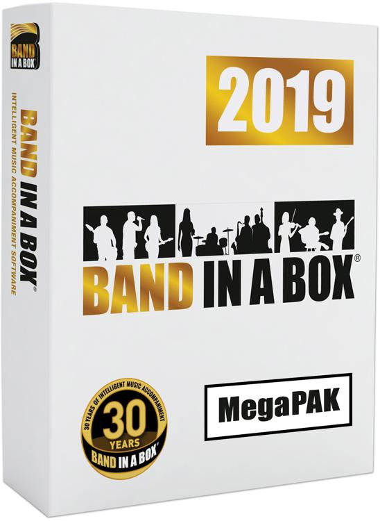 Band-in-a-Box 2019 MegaPAK for Windows (boxed)