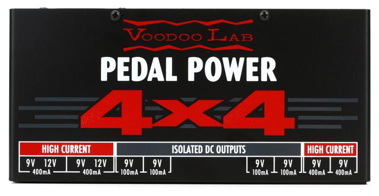 voodoo lab pedal power 4x4 isolated power supply sweetwater. Black Bedroom Furniture Sets. Home Design Ideas
