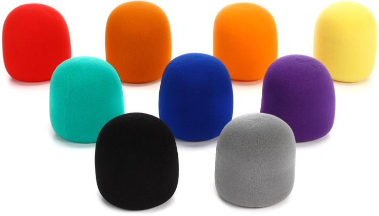 On-Stage Stands ASWS58C9 Windscreen 9-pack - Multicolor image 1
