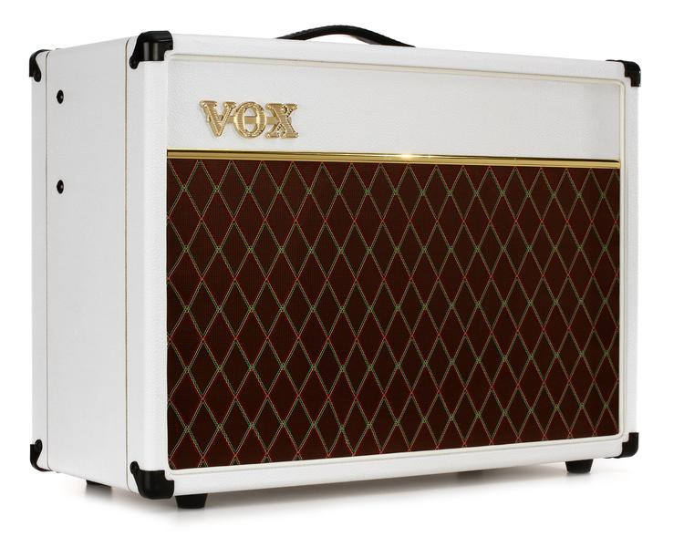 vox ac15 custom limited white bronco 15w 1x12 guitar combo amp sweetwater. Black Bedroom Furniture Sets. Home Design Ideas