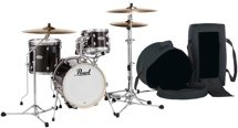 Pearl Midtown Series Shell Pack with Gig Bags - 4-pc - Black Gold Sparkle