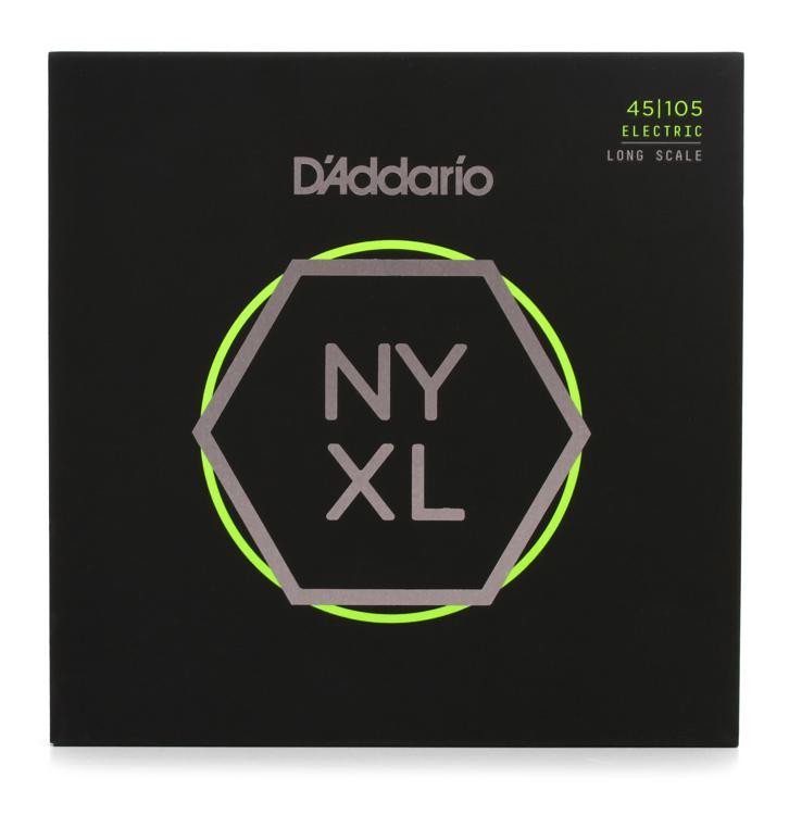 D\'Addario NYXL45105 Nickel Wound Bass Strings .045-.105 Light Top/Medium Bottom image 1