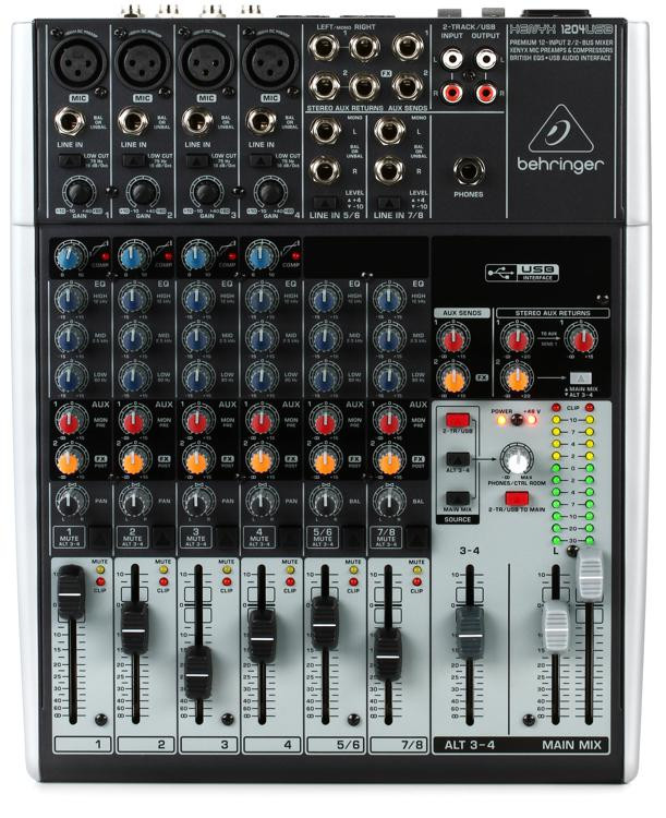 Behringer Xenyx 1204USB Mixer and USB Audio Interface image 1