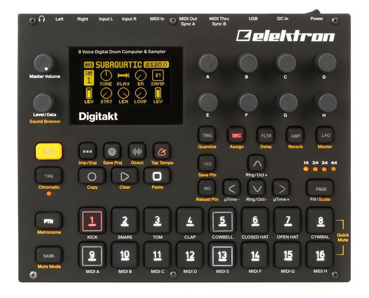 Elektron Digitakt 8 Voice Drum Computer And Sampler