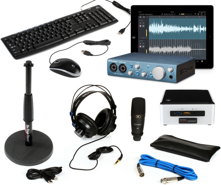Sweetwater Custom Computing CS100 Recording Bundle with AudioBox iTwo Studio image 1